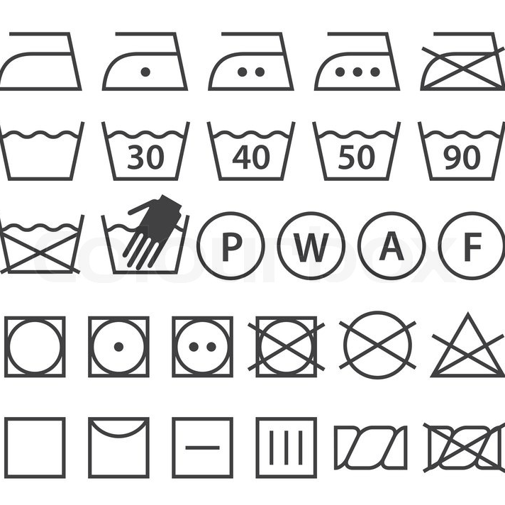 Semnificațiile simbolurilor de pe etichetele rochiilor
