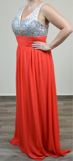 Rochie de seara portocalie