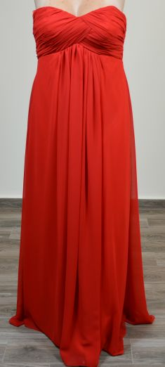 Rochie de seara rosie, incretita in talie
