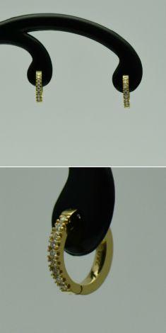 Cercei din aur galben cu diamante