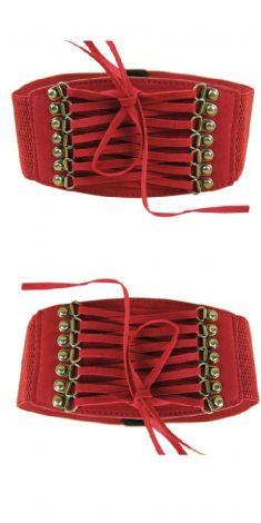 Curea rosie tip corset