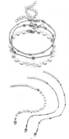 Bratari argintii (set de 3 bucati)