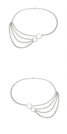 Curea argintie - model 3 lanturi