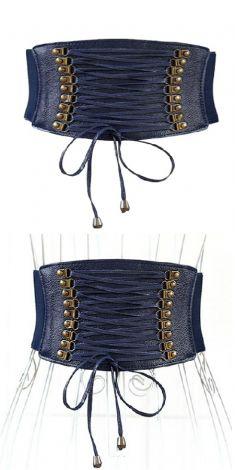 Curea bleumarin tip corset