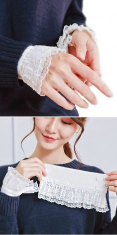 Mansete albe de camasi/pulovere-model 3