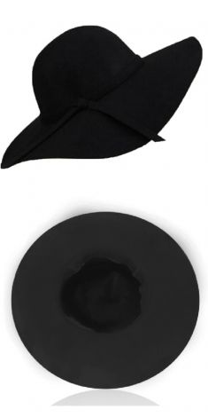 Palarie neagra cu nod