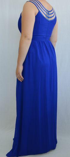 Rochie de seara albastra cu aplicatii