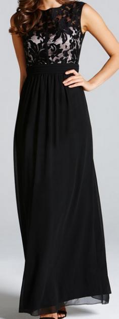 Rochie de seara neagra cu dantela si captuseala transparenta