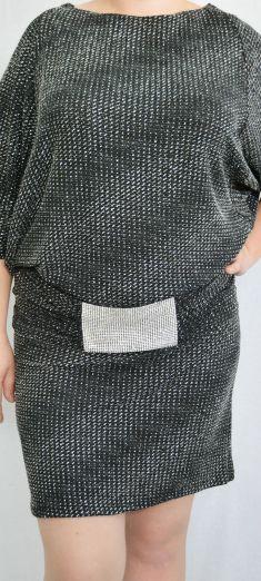 Rochie neagra cu argintiu