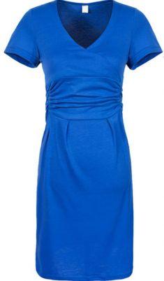 Rochie de gravide albastra cu pliseuri pe burta
