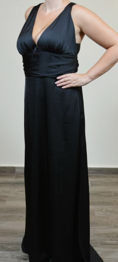 Rochie de seara neagra, silueta A-line