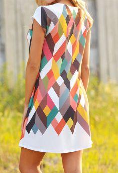 Rochie multicolora semi-transparenta