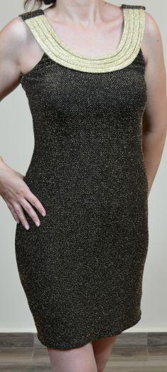 Rochie neagra cu auriu