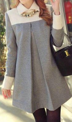 Rochie/bluza gri cu alb