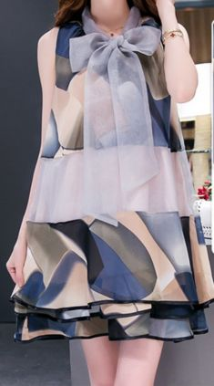 Rochie/bluza multicolora semi-transparenta