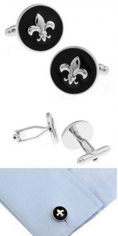 Butoni rotunzi argintii cu negru