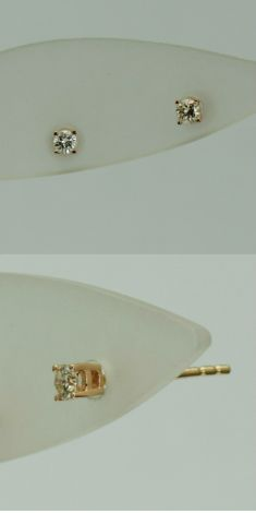 Cercei aur roz cu diamante