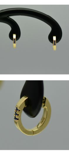 Cercei de aur galben 18k cu safire