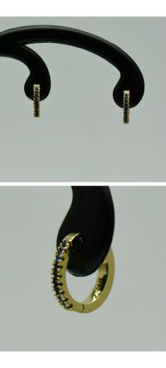 Cercei din aur galben 18k cu safire