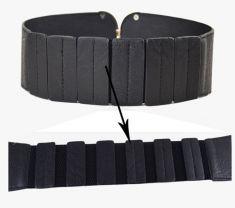 Curea neagra elastica, catarama aurie