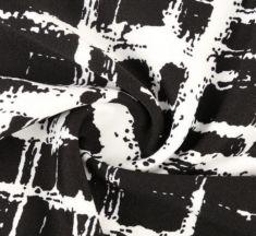 Rochie neagra cu alb