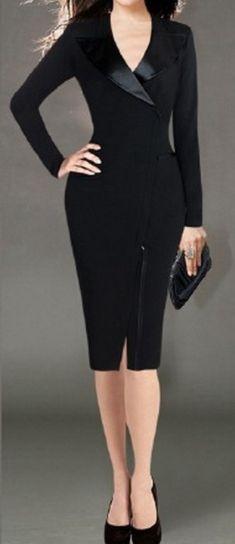Rochie neagra cu maneca lunga