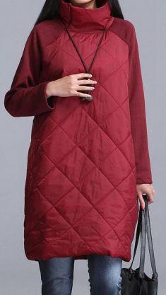 Rochie-pulover grena