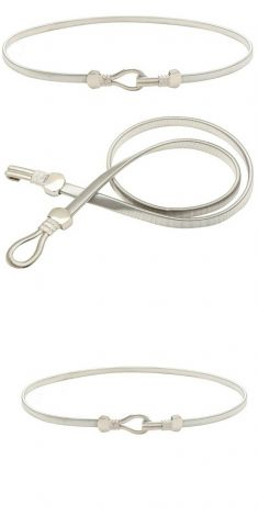 Curea elastica argintie, catarama cu striatii
