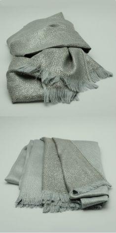 Esarfa gri cu argintiu cu doua fete (gri/argintie)