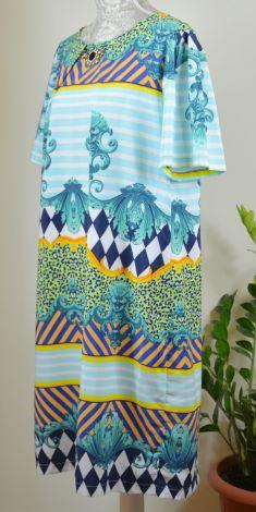Rochie cu brosa, multicolora