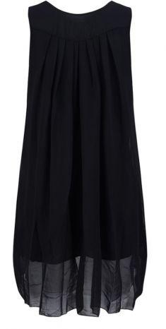 Rochie cu detalii metalice, culoare neagra