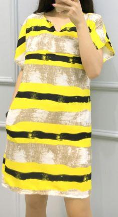 Rochie galbena cu fermoar pentru alaptat