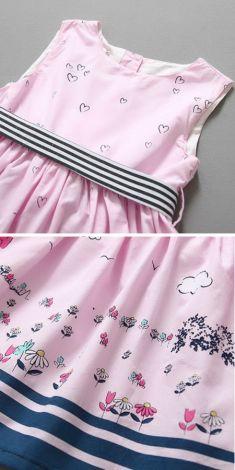 Rochita roz cu inimioare si floricele