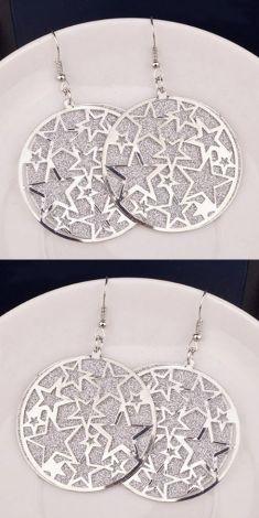 Cercei argintii cu stelute argintii