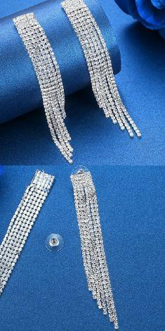 Cercei argintii cu strasuri
