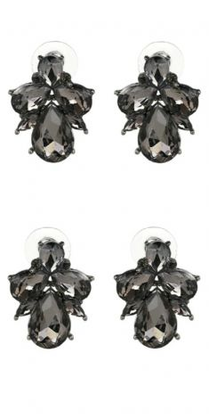 Cercei cu cristale gri (albinuta)