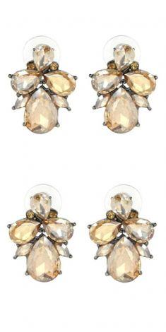Cercei cu cristale light-brown (albinuta)