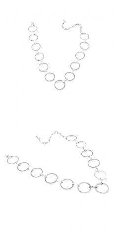 Colier cu cercuri argintii