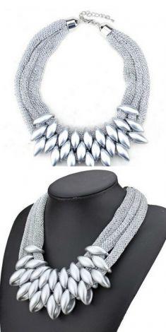 Colier cu zale argintii
