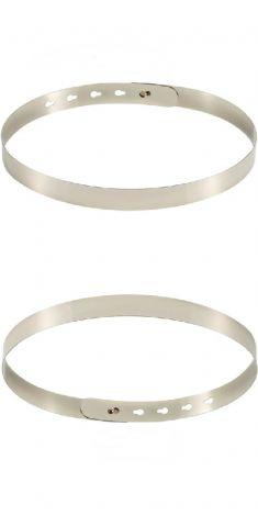 Cura rigida argintie, latime 2,5 cm