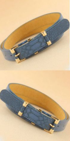 Curea bleu-albastru, snake print