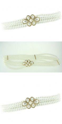 Curea din perle, catarama cu sase perle