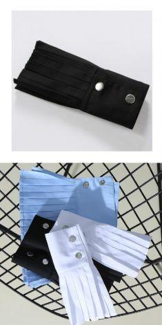 Mansete negre(plisate) pentru camasi/pulovere