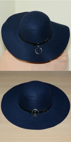Palarie bleumarin cu inel