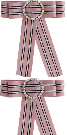 Papion/Brosa roz cu strasuri