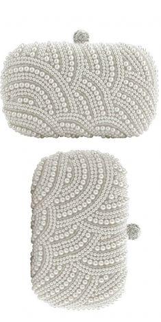 Plic alb perle albe