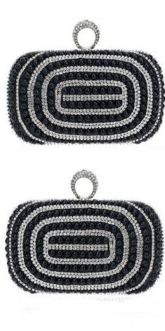Plic negru cu perle negre