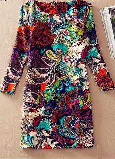 Rochie casual multicolora