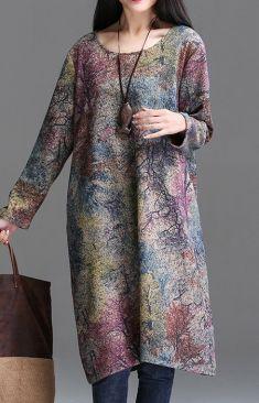 Rochie cu imprimeu de toamna