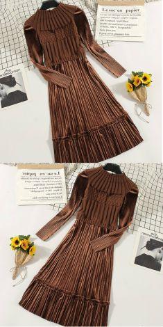 Rochie maro cu fusta din catifea